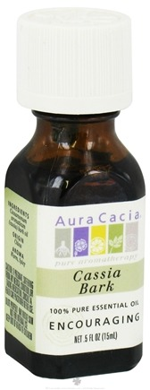 DROPPED: Aura Cacia - Essential Oil Encouraging Cassia Bark - 0.5 oz. CLEARANCE PRICED