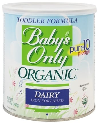 Baby's Only - Organic Dairy Based Iron Fortified Toddler Formula - 12.7 oz.