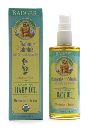 Badger - Calming Baby Oil Chamomile & Calendula - 4 oz.