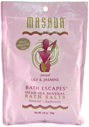 DROPPED: Masada - Bath Escapes Bath Salts, Lily & Jasmine - 4.8 oz.