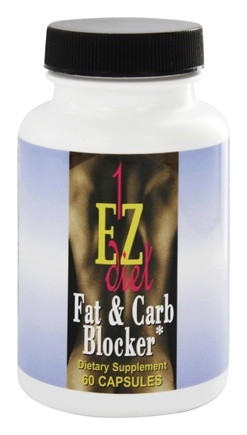 Maximum International - 1-EZ Diet Fat & Carb Blocker - 60 Capsules Contains White Kidney Bean Extract