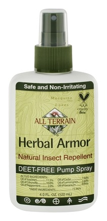 All Terrain - Herbal Armor Natural Insect Repellent Deet-Free Pump Spray - 4 oz.