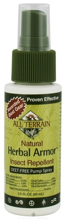 DROPPED: All Terrain - Herbal Armor Natural Insect Repellent Pump Spray Deet-Free - 2 oz. CLEARANCE PRICED