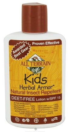 DROPPED: All Terrain - Herbal Armor Kids Insect Repellent Lotion Deet-Free 15 SPF - 4 oz.