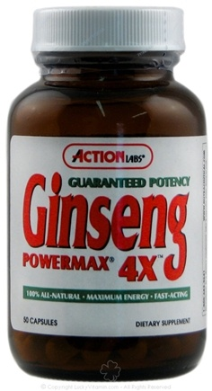 DROPPED: Action Labs - Ginseng Powermax 4X - 50 Capsules CLEARANCE PRICED