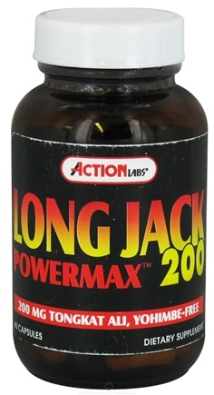 DROPPED: Action Labs - Long Jack Power Max 200 - 60 Capsules
