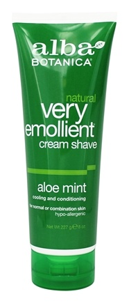 Alba Botanica - Moisturizing Cream Shave Aloe Mint - 8 oz.