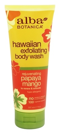 Alba Botanica - Alba Hawaiian Body Wash Exfoliating Papaya Mango - 7 oz.