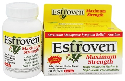 DROPPED: Estroven - Menopause Relief Maximum Strength - 60 Capsules