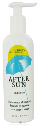DROPPED: Aubrey Organics - After Sun Body & Face Maintenance Moisturizer - 8 oz. CLEARANCE PRICED
