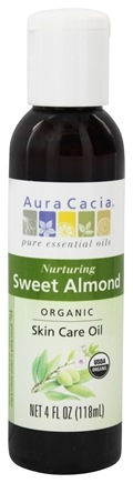Aura Cacia - Certified Organic Skin Care Oil Sweet Almond - 4 oz.