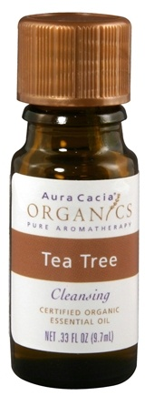 DROPPED: Aura Cacia - Essential Oil Organic Tea Tree CLEARANCE PRICED - 0.33 oz.