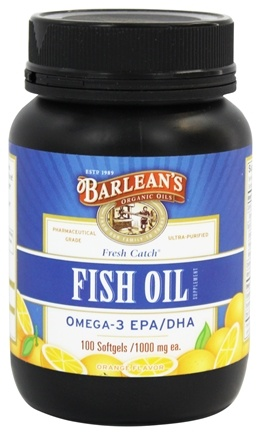Barlean's - Fresh Catch Fish Oil Omega-3 EPA/DHA Orange Flavor 1000 mg. - 100 Softgels