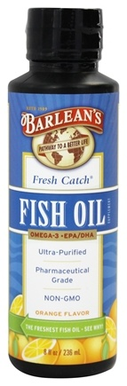 Barlean's - Fresh Catch Fish Oil Omega-3 EPA/DHA Orange Flavor - 8 oz.