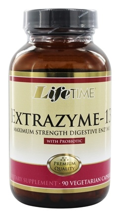 LifeTime Vitamins - Extrazyme-13 with Probiotic Maximum Strength Digestive Enzyme - 90 Capsules