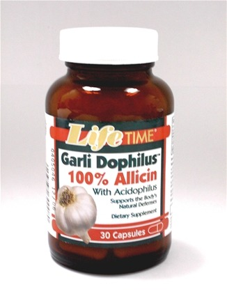 DROPPED: LifeTime Vitamins - Garli Dophilus 100% Allicin with Acidophilus - 30 Capsules