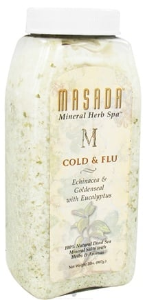 DROPPED: Masada - Dead Sea Mineral Herb Spa Salts Cold & Flu - 2 lbs.