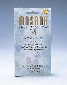 DROPPED: Masada - Dead Sea Mineral Herb Spa Salts, DeTox M.D - 6 oz.