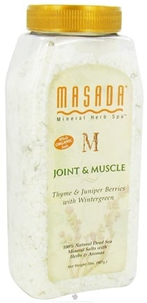 DROPPED: Masada - Dead Sea Mineral Herb Spa Salts Joint & Muscle Relief - 2 lbs.