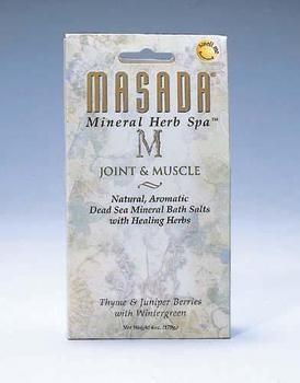 DROPPED: Masada - Dead Sea Mineral Herb Spa Salts, Joint & Muscle Relief - 6 oz.
