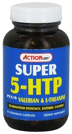 DROPPED: Action Labs - Super 5-HTP - 50 Vegetarian Capsules CLEARANCE PRICED
