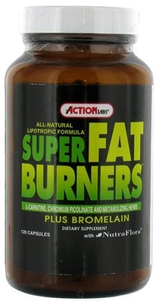 DROPPED: Action Labs - Super Fat Burners - 120 Capsules