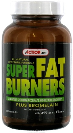 DROPPED: Action Labs - All Natural Lipotropic Formula Super Fat Burners Plus Bromelain & NutraFlora - 60 Capsules