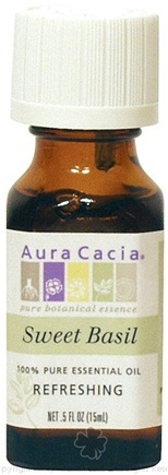 DROPPED: Aura Cacia - Essential Oil Refreshing Sweet Basil - 0.5 oz. CLEARANCE PRICED