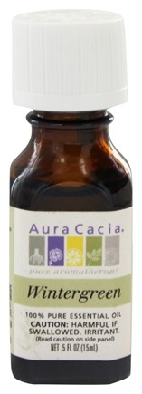 Aura Cacia - Essential Oil Reviving Wintergreen - 0.5 oz.