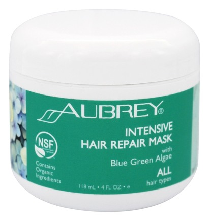 Aubrey Organics - Blue Green Algae Hair Rescue Conditioning Mask - 4 oz.