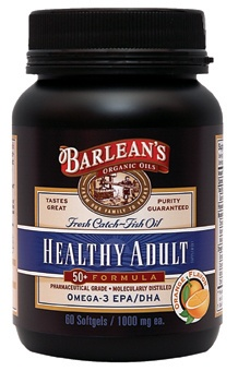 DROPPED: Barlean's - Fresh Catch Healthy Adult 50+ Formula - 60 Softgels