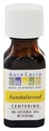 Aura Cacia - Precious Essentials Centering Sandalwood in Jojoba Oil - 0.5 oz.