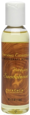DROPPED: Aura Cacia - Precious Essentials Aromatherapy Massage Purifying Sandalwood - 4 oz. CLEARANCE PRICED