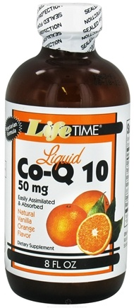 DROPPED: LifeTime Vitamins - Liquid Co-Q10 Vanilla Orange 50 mg. - 8 oz. CLEARANCE PRICED