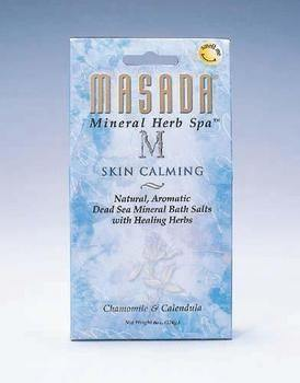 DROPPED: Masada - Dead Sea Mineral Herb Spa Salts, Skin Calming - 6 oz.