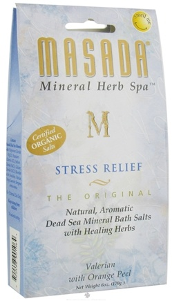 DROPPED: Masada - Dead Sea Mineral Herb Spa Salts Stress Relief Valerian With Orange Peel - 6 oz.