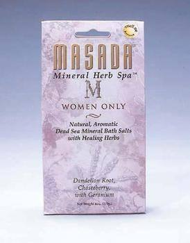 DROPPED: Masada - Dead Sea Mineral Herb Spa Salts, Women Only - 6 oz.