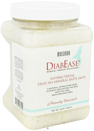 DROPPED: Masada - Diabease Bath Therapy Salt Natural Unscented - 32 oz. CLEARANCE PRICED