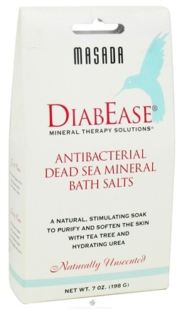 DROPPED: Masada - Diabease Bath Therapy Salt Natural Unscented - 7 oz. CLEARANCE PRICED