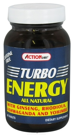DROPPED: Action Labs - Turbo Energy - 60 Capsules CLEARANCE PRICED