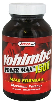 DROPPED: Action Labs - Yohimbe Power Max 1500 - 60 Capsules CLEARANCE PRICED