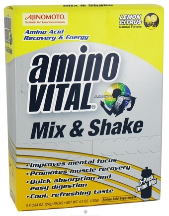 DROPPED: Amino Vital - Mix & Shake Lemon Citrus - 5 Pack(S)