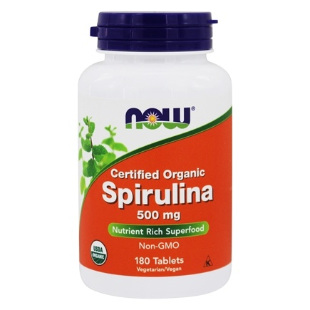 NOW Foods - Spirulina 500 mg. - 180 Tablets