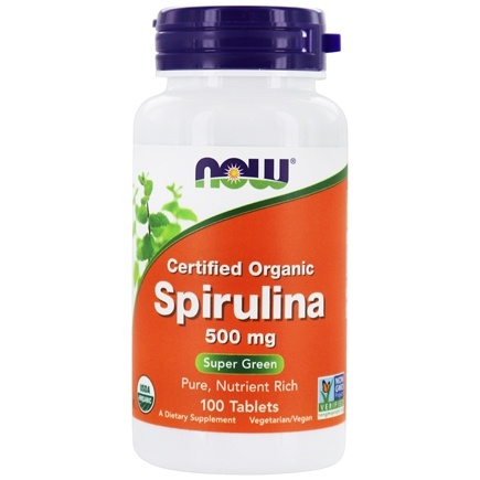 NOW Foods - Spirulina 100% Natural 500 mg. - 100 Tablets