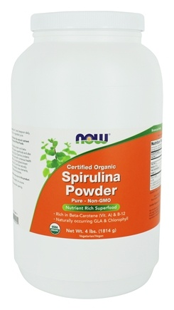 NOW Foods - Spirulina Powder - 100% Pure and Natural - 4 lbs.