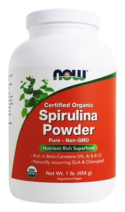 NOW Foods - Spirulina Powder Certified Organic - 1 lb.