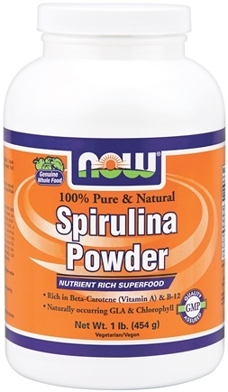 DROPPED: NOW Foods - Spirulina Powder 100% Pure and Natural - 1 lb.