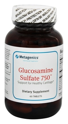 Metagenics - Glucosamine Sulfate Nutritional Support for Joints & Other Connective Tissues 750 mg. - 60 Tablets