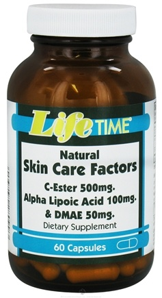 DROPPED: LifeTime Vitamins - Natural Skin Care Factors - 60 Capsules CLEARANCE PRICED