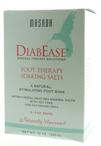 DROPPED: Masada - Diabease Foot Therapy Salt Natural Unscented - 4 Pack(s) CLEARANCE PRICED